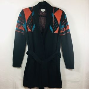 S.Y.L.K. Southwest Design Belted Cardigan